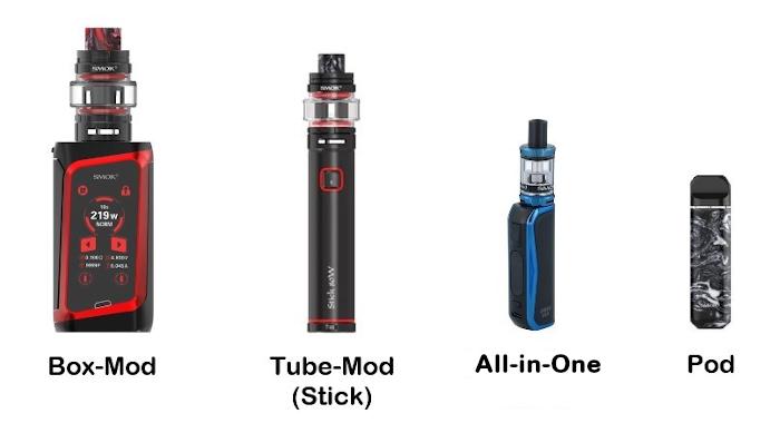 Arten von E-Zigaretten