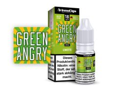 10ml Green Angry Fertigliquid von Innocigs mit Limettengeschmack in den Stärken 0mg, 3mg, 6mg, 9mg, 18mg