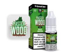 10ml Master Wood Fertigliquid von InnoCigs mit Waldmeistergeschmack in den Stärken 0mg, 3mg, 6mg, 9mg, 18mg