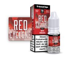 10ml Red Cyclone Fertigliquid von InnoCigs mit dem Geschmack von roten Früchten in den Stärken 0mg, 3mg, 6mg, 9mg, 18mg