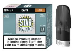 Caps Easy 4 von SC mit fest integriertem 1,1 Ohm Verdampferkopf vorberfüllt mit Innocigs Star Spangled Tabak Liquid wahlweise in der Nikotinstärke 9mg oder 18mg