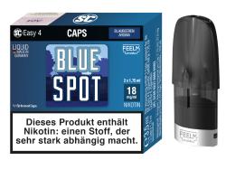 Caps Easy 4 von SC mit festintegriertem 1,1 Ohm Verdampferkopf vorbefüllt mit dem InnoCigs BlueSpot Blaubeeren Liquid wahlweise in der Nikotinstärke 9mg oder 18mg