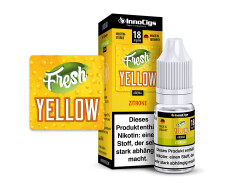 10 ml Fresh Yellow Fertigliquid von InnoCigs mit dem Geschmack von Zitrone in den Stärken 0mg, 3mg, 6mg, 9mg und 18 mg