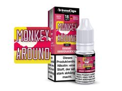 10ml Monkey Around Fertigliquid von Innocigs mit Amarenakirschgeschmack in den STärken 0mg, 3mg, 6mg, 9mg, 18mg